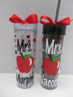 Personalized acrylic teacher tumbler - NEW tall, skinny style - many designs - mix and match - perfect for beach or pool NEED!