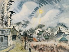 CHARLES BURCHFIELD East Wind and Winter Sun (1915)