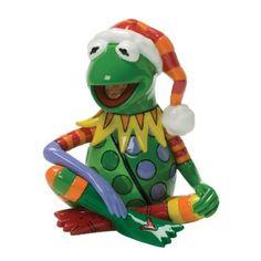 Amazon.com: Enesco Disney by Britto Christmas Kermit the Frog Figurine, 3-1/2-Inch: Home & Kitchen