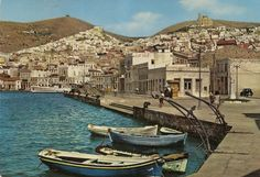 Syros Island (60s) Greece History, Islands, Beautiful Pictures, Retro, Pretty Pictures, Neo Traditional, Island, Rustic, Retro Illustration
