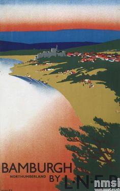 Bamburgh -  L.N.E.R. Poster, Tom Purvis