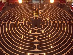 Labyrinths are not mazes. They're not meant to confuse: they're a single long, circuitous path.