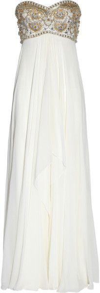 Marchesa White Beaded Silkchiffon Gown -so gorgeous (in my dreams!)