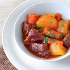 Five Spice Pork Stew - tender juicy chunks of pork surrounded by a deeply flavored five spice stew.  Comfort food at its best.
