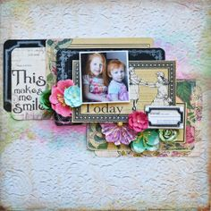 Create a beautiful layout of your children with Prima products available at select @Jo-Ann Fabric and Craft Stores! #joanns #papercrafting #family #layouts
