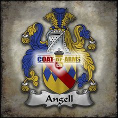 Angell Family Crest British Coat of Arms(GB)