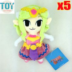 """Find More Movies & TV Information about New 5 PCS The Legend of Zelda Wind Waker Princess Plush Doll Anime Juguetes Peluche Baby Dolls Brinquedos 8"""" Tracking Wholesale,High Quality doll doll doll,China doll corset Suppliers, Cheap doll car from Toys in the Kingdom on Aliexpress.com"""