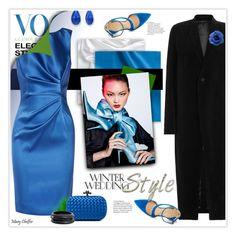 """Something blue..."" by mcheffer ❤ liked on Polyvore featuring Nine West, Oscar de la Renta, Rick Owens, Jessica Simpson, Bottega Veneta, ZENZii, Chanel and winterwedding"