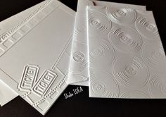 Movies & Music Theme Embossed Cards - 2 style cards- Set of 4 white A2 embossed cards or Choose Your Colors - EC027-28 by StudioIdea on Etsy