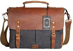 Wowbox Messenger Satchel bag for men and women Best Messenger, Cool Messenger Bags, Canvas Messenger Bag, Satchel Bags For Men, Laptop Bag For Women, Laptop Briefcase, Best Laptops, Vintage Canvas, Types Of Bag