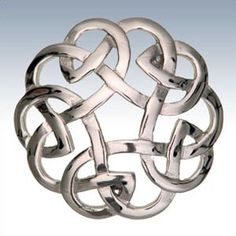 Celtic Brooch Open Knot Scottish Brooches Scottish Clans Tartans Kilts Crests and Gifts