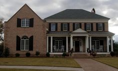 brick home southern living front porches - Google Search