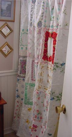 Handkerchief shower curtain -
