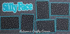 Silly Face - Basic Premade Scrapbook Double (2) Page 12x12 Layout