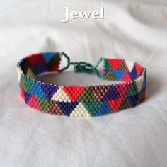 Seed Bead Bracelet. Peyote bracelet. Beaded by LetsMakeEverything