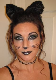 Beautiful Black Cat Makeup