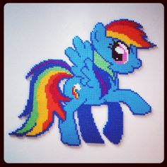 MLP Large Rainbow Dash hama perler beads by tinaenoe