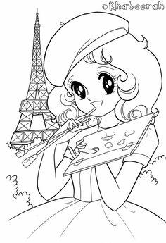Art in Paris Shojo / Coloring Pages