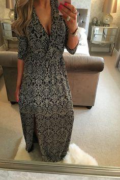 Wantthattrend - Evianna Paisley Glitter Maxi Dress, £34.95 (http://wantthattrend.com/evianna-paisley-glitter-maxi-dress/)