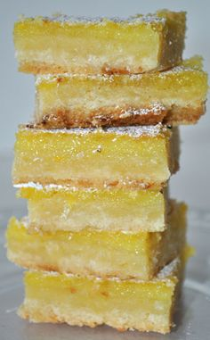 Meyer Lemon Bars with a Coconut Crust ~ Buttery, citrus perfection... insanely delicious!