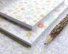 Ditsy Wildflowers Spiral Bound Pocket Notebook by carenbarry, Pocket Notebook, Jute Twine, Ditsy, Wildflowers, Spiral, Card Stock, How To Draw Hands, Handmade Gifts, Journal