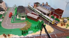 Lego Train Station, Lego Trains, Lego Stuff, Legos, Explore, Lego, Exploring, Logos