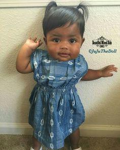 Laila - 8 Months • Filipino & African American ❤ FOLLOW @beautifulmixedkids on instagram