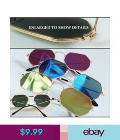 Sunglasses & Fashion Eyewear Slim Lightweight Embellished Design Gold Metal Frame Sunglasses _Reflective Lens #ebay #Fashion