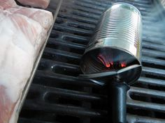 Cold Smoke:  can, soldering iron, wood chips, non-flammable enclosure = awesome!