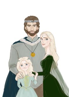 Young Aelin and her parents