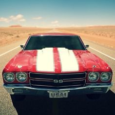 Nothing beats an open road and a raging Chevy Chevelle SS! Love this photo so much