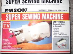 Battery operated portable super sewing machine