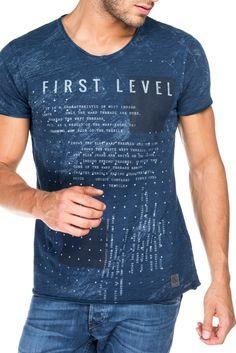 T-shirt 1st level com gráfico a laser - Salsa