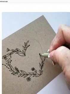 Doodle Art 437693657536381368 - Cœur végétal Source by monique_durand Diy And Crafts, Arts And Crafts, Paper Crafts, Embroidery Hearts, Envelope Art, Heart Envelope, Envelope Design, Bullet Journal Inspiration, Diy Cards