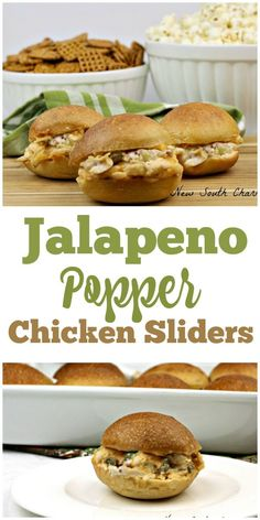 Jalapeño Popper Chicken Sliders are the perfect for food enjoying at your next tailgate party. They are packed with meaty, cheesy, gooey goodness with a pop of heat that sends these over the top.#ad #Tailgreatness