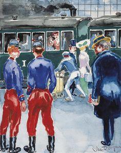 Kees Van Dongen (1877-1968) Le Baron Charlus A La Gare De Doncieres 1946 (24,4 x 21,3 cm)