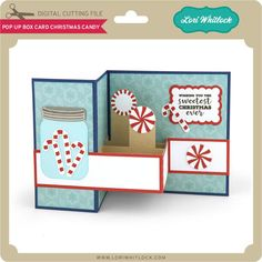 Pop up box card boxcard with christmas mint candy