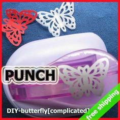 FREE SHIPPING Punch Card Scrapbook Craft Embossing DIY Greeting Card Promotion Gift Say Hi 2Pcs/Lot DIY Butterfly[Complicated]-in Hole Punch from Office & School Supplies on Aliexpress.com