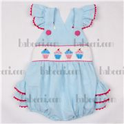 Ice cream hand smocked bubble for girls, smocked bubble for girls