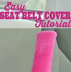 Learn how easy it is to sew a seat belt cover with the simple seat belt cover tutorial at Sparkles of Sunshine, a great gift for a mastectomy patient.
