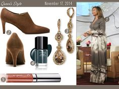 Comfy and chic in a maxi and ankle booties! | My style: November 17, 2014 | Queen Latifah