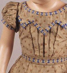 Adventures of a Costumer: 1860s- Child's original dress trim