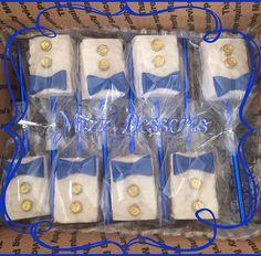 Little gentlemen Rice Krispie treats Rice Crispy Pops, Rice Crispy Squares, Chocolate Rice Crispy Treats, Chocolate Lollipops, Rice Krispie Treats, Chocolate Dipped, Rice Krispies, Oreo Rice, Denim Party