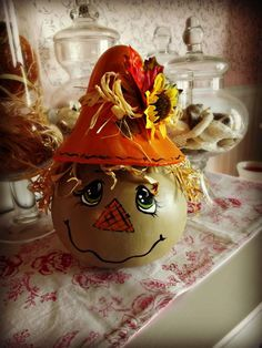 gourd scarecrows - Google Search