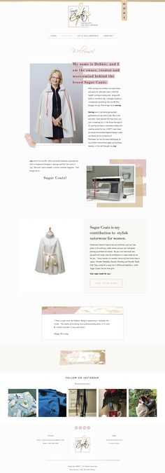 About page for Etsy womens wear business | Squarespace web design by Jodi Neufeld Design