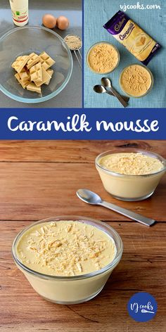 This simple recipe only has 4 ingredients: Caramilk chocolate, cream, brown sugar and eggs. A quick and easy dessert to impress your friends. Dinner Party Desserts, No Cook Desserts, Easy Desserts, Dessert Recipes, Frozen Desserts, Chocolate Mousse Recipe, Chocolate Flavors, Chocolate Recipes, Chocolate Cream