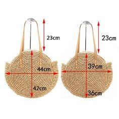 Boho Bag, Woven Straw Rope Tote Bag, Helen (2 sizes) – Cotton Rose Boho Bag Patterns To Sew, Crochet Patterns, Round Bag, Boho Bags, Craft Bags, Crochet Clothes, Crochet Bags, Straw Bag, Purses And Bags