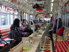"To celebrate the opening of a new IKEA outlet near Tokyo's Tachikawa Station, the furniture giant converted the Tama Monorail Line into a ""party train""."
