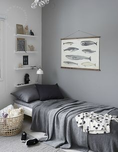 Gray Boys' Room Ideas 27                                                                                                                                                     More