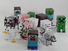 Minecraft Minis: DIY Papercraft Toys - nets for surface area, finding volume 6.G
